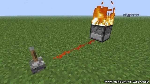 Как создать огонь в майнкрафте